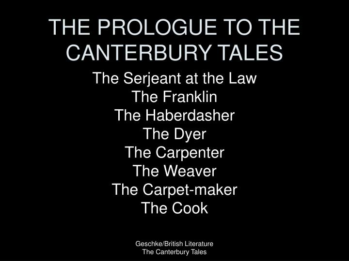 the prologue to the canterbury tales n.
