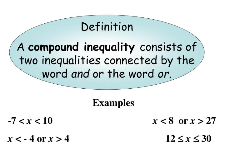 Ppt Solving Compound Inequalities Powerpoint Presentation Id6313521