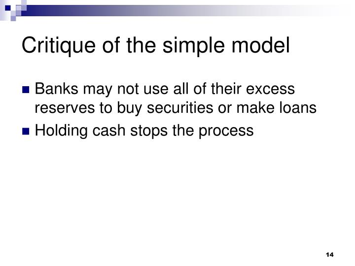 Critique of the simple model