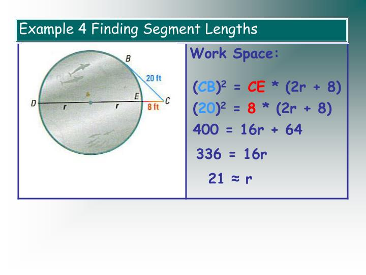 Example 4 Finding Segment Lengths