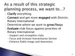 as a result of this strategic planning process we want to