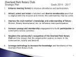 overland park rotary club strategic plan goals 2014 2017