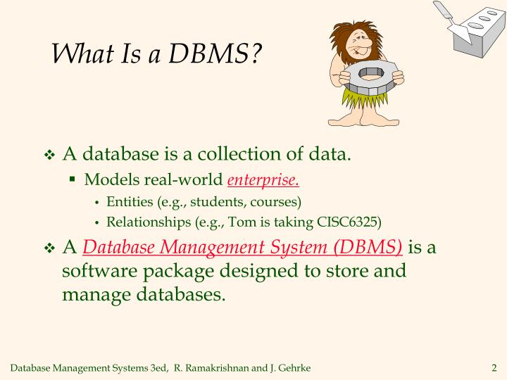 what is a dbms