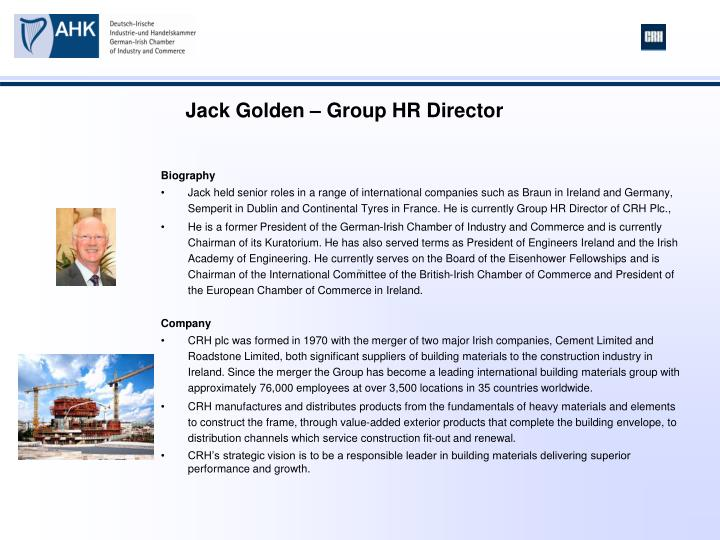 Jack Golden – Group HR Director