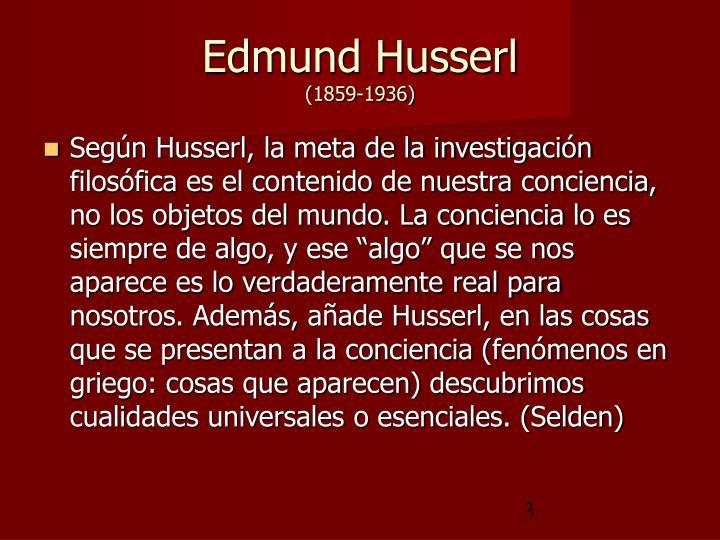 Edmund husserl 1859 1936
