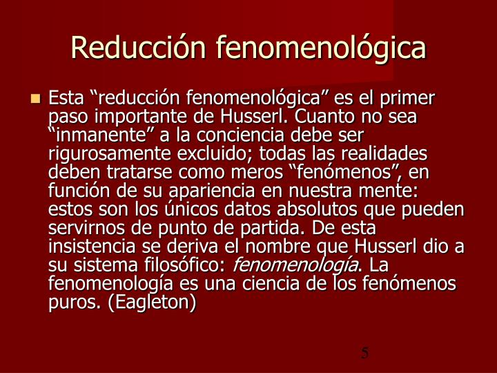 Reducción fenomenológica