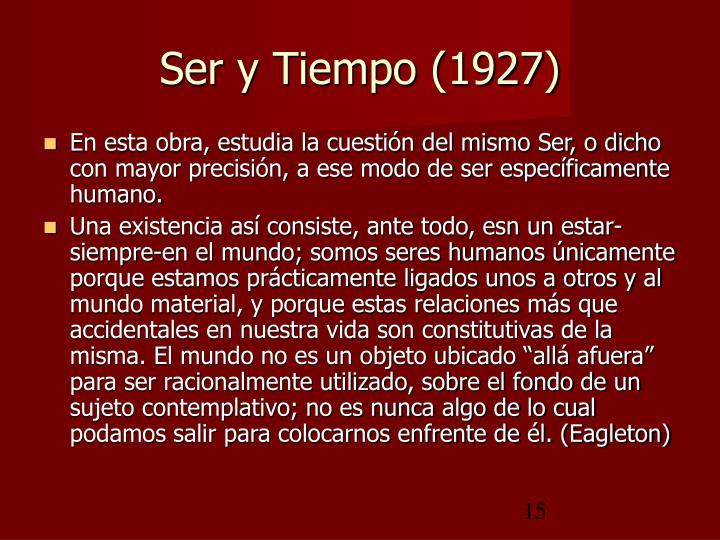 Ser y Tiempo (1927)