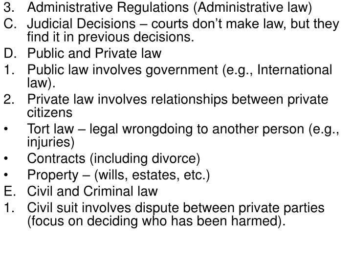 Administrative Regulations (Administrative law)