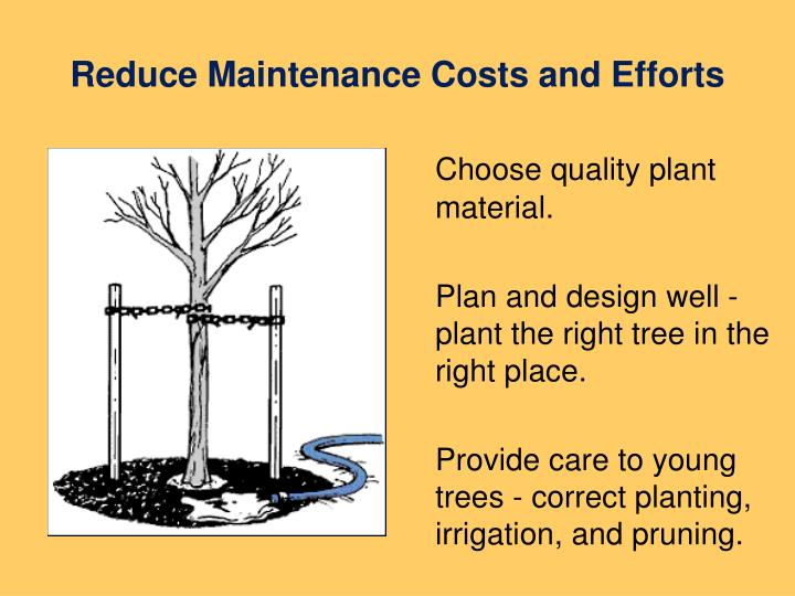 Reduce maintenance costs and efforts