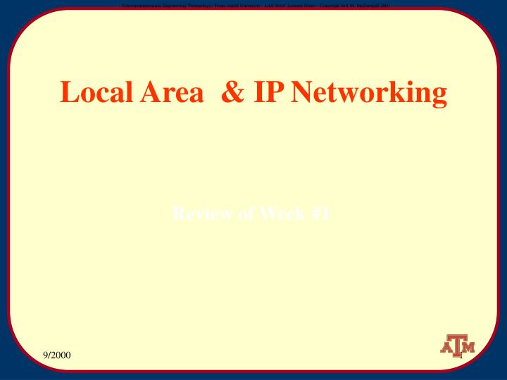 local area ip networking n.