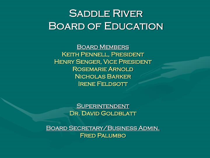 Saddle river board of education1