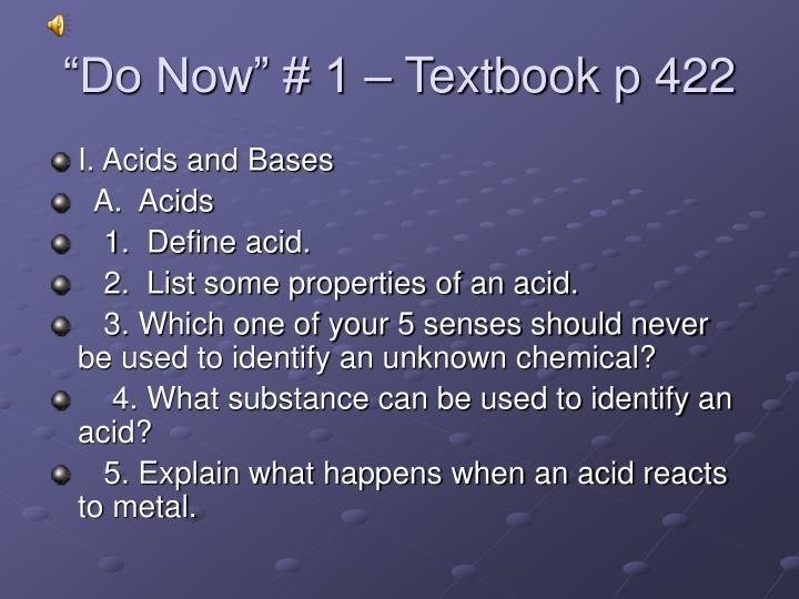 do now 1 textbook p 422 n.
