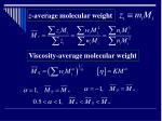 z average molecular weight