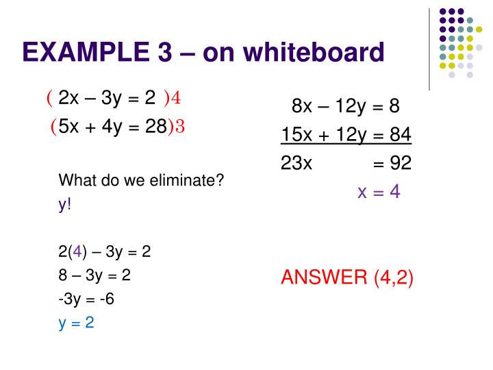 EXAMPLE 3 – on whiteboard