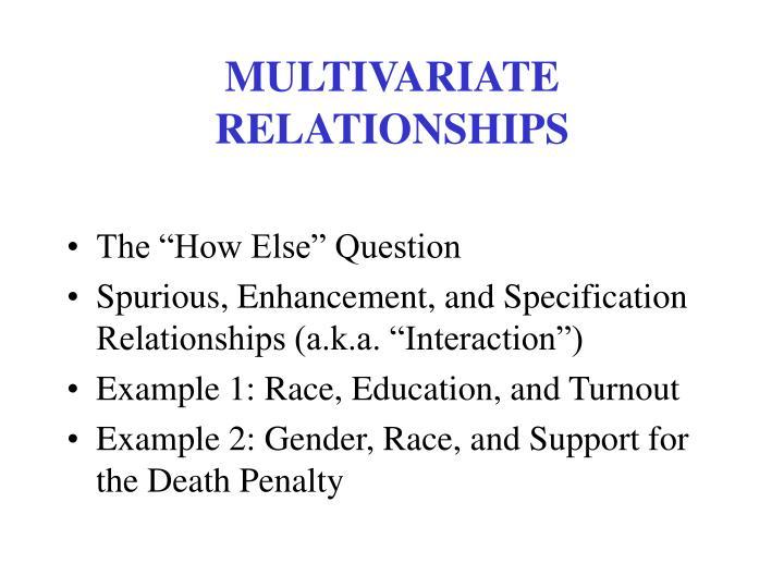 MULTIVARIATE RELATIONSHIPS