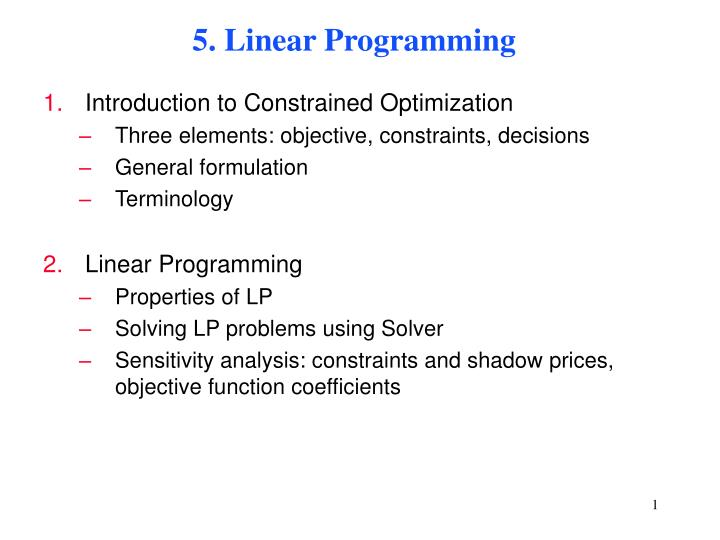 in linear programming objective function and objective constraints are