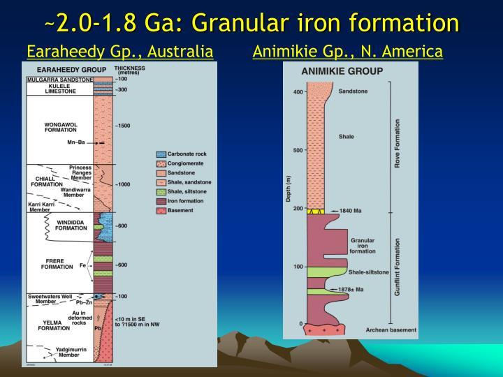 ~2.0-1.8 Ga: Granular iron formation