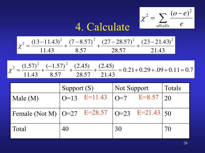 4. Calculate