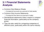 3 1 financial statements analysis
