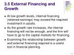 3 5 external financing and growth