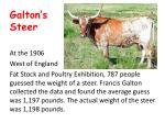 galton s steer