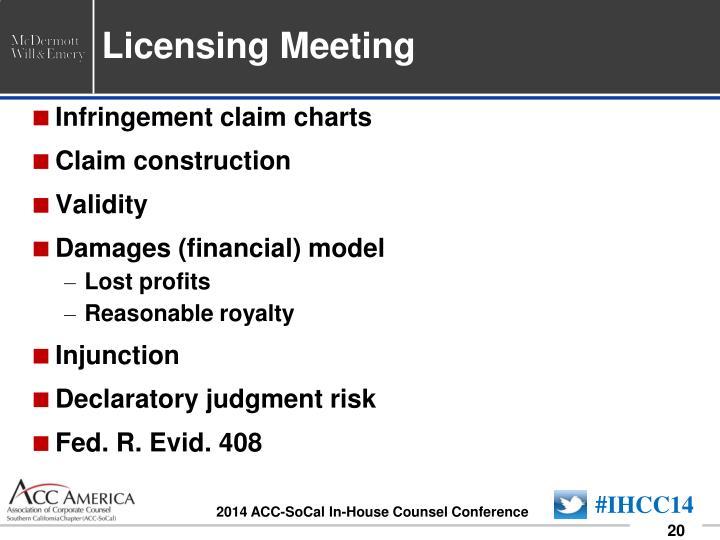 Licensing Meeting