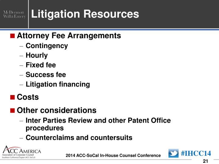 Litigation Resources