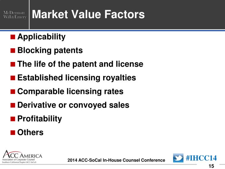 Market Value Factors