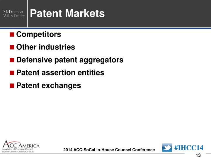 Patent Markets