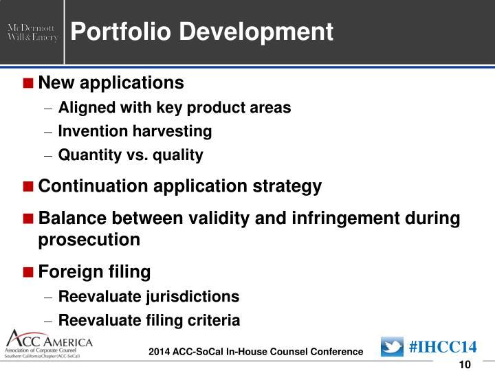 Portfolio Development