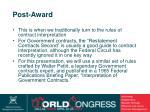 post award