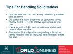 tips for handling solicitations