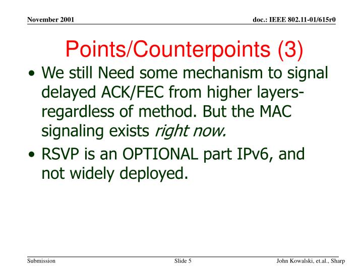 Points/Counterpoints (3)