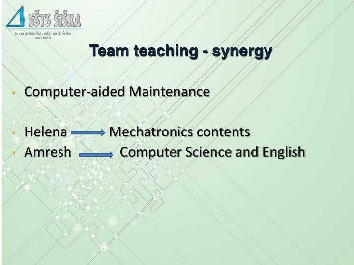 Team teaching - synergy