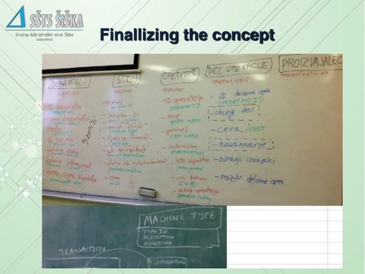 Finallizing the concept