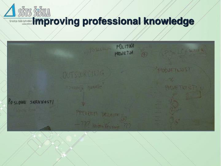 Improving professional knowledge