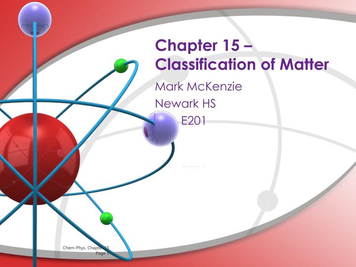 chapter 15 classification of matter n.