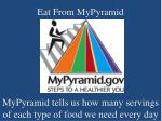 eat from mypyramid