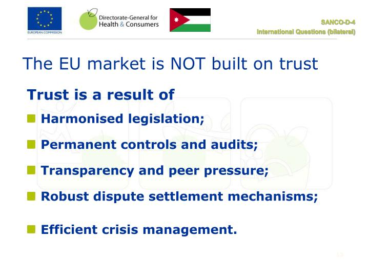 The EU market is NOT built on trust