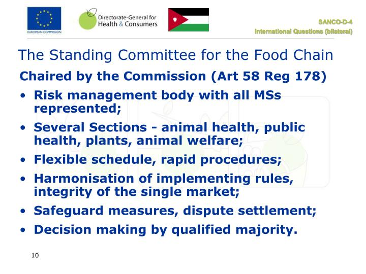The Standing Committee for the Food Chain