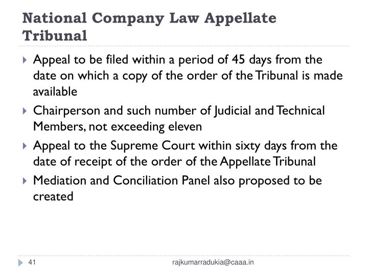 National Company Law Appellate Tribunal