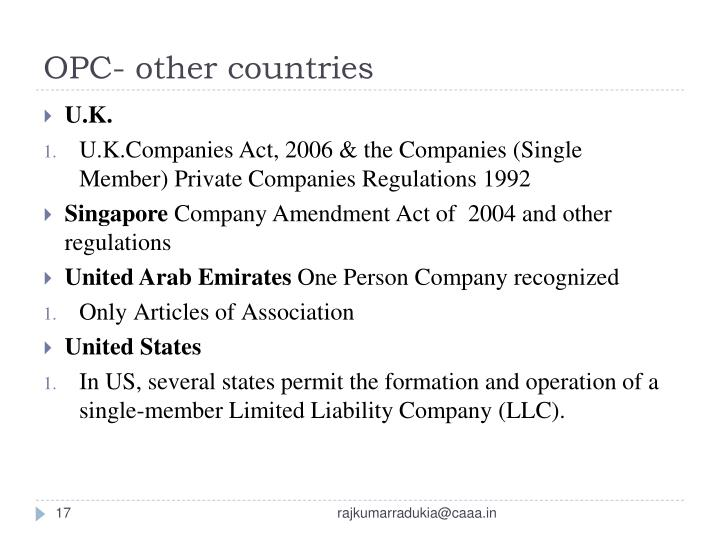 OPC- other countries