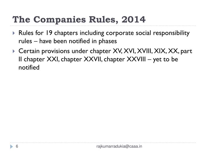 The Companies Rules, 2014