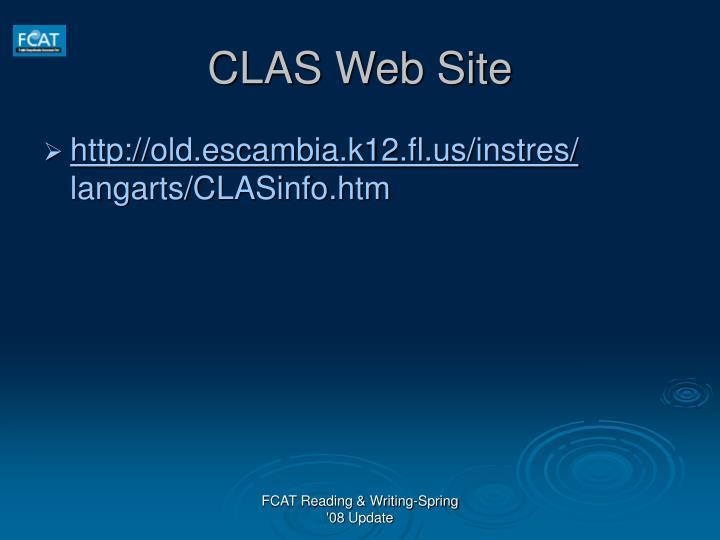 CLAS Web Site