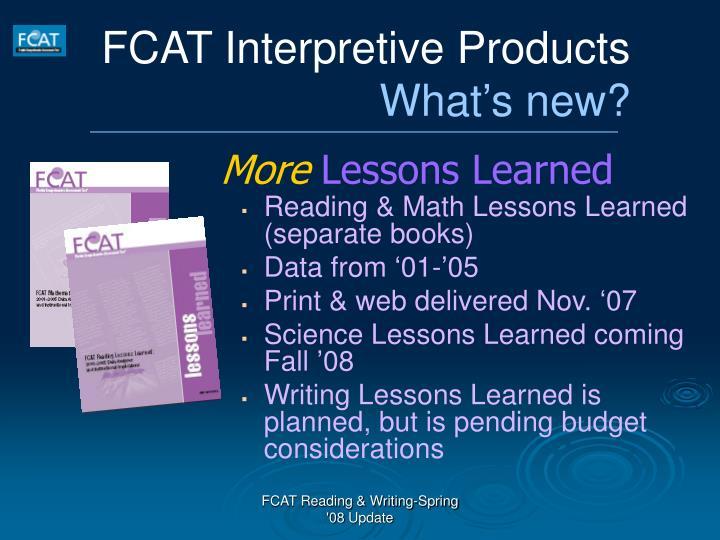 FCAT Interpretive Products