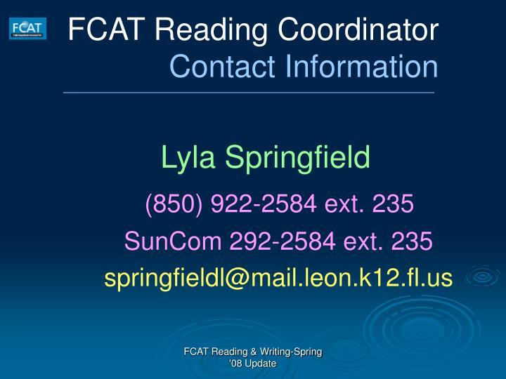 FCAT Reading Coordinator