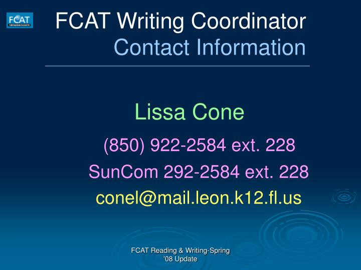 FCAT Writing Coordinator