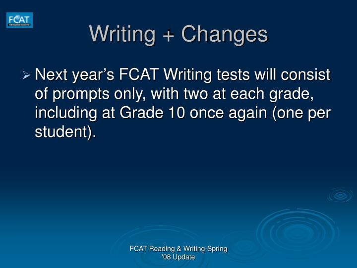 Writing changes1