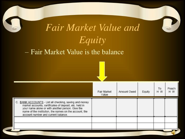 Fair Market Value and Equity
