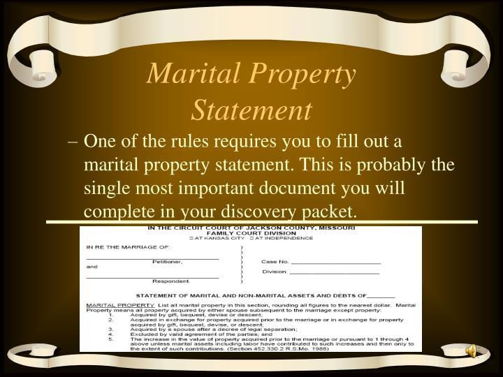 Marital Property Statement